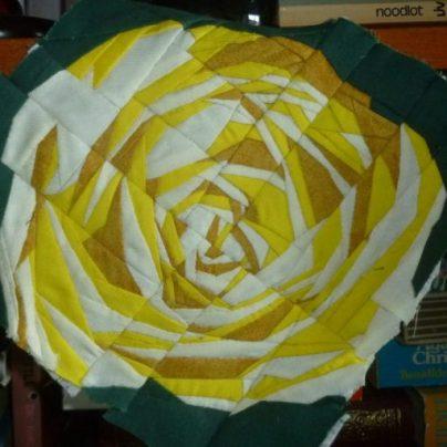 Rose quilt finished