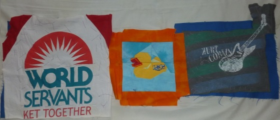 Banner picture patchwork pieces