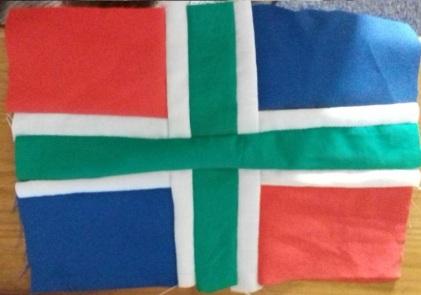 Patchwork flag of Groningen, The Netherlands