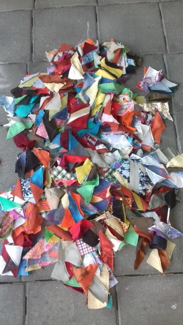 All the pieces in a pile