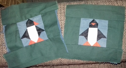 Finished men in black penguins