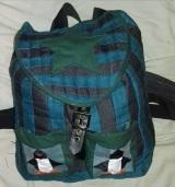 Finished penguin rucksack