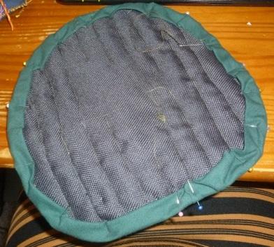 Backside of the topflap for the penguin rugsack