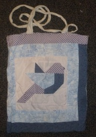 Geometric bird tote bag