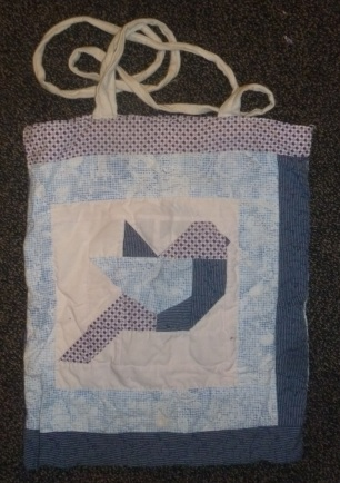 Geometric bird tote bag