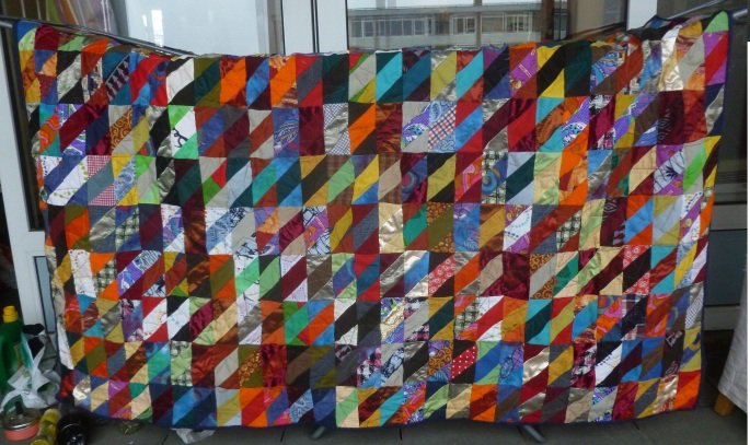 Finished scrap quilt