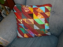 scrap quilted pillow