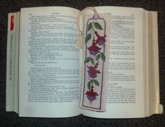 Fuchsia bookmark