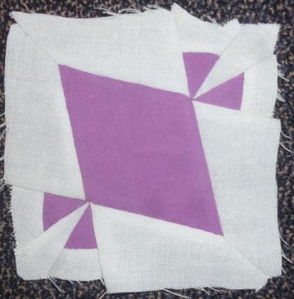 Block E-4 of the Dear Jane quilt: The Buffalo Treehopper