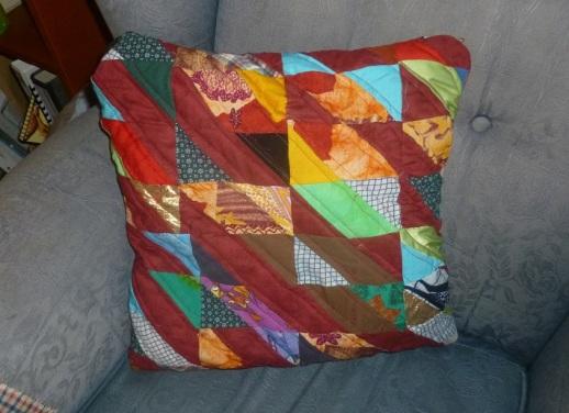 Scrap quilt pillow