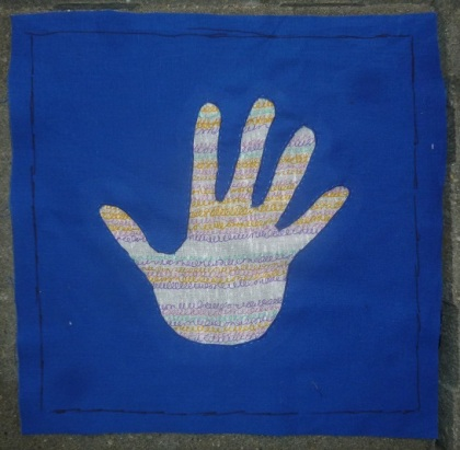 Reverse applique hand