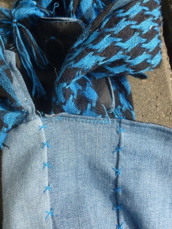 Detail scarf belt punk bookbag