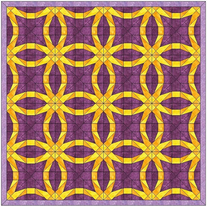 Double Wedding Ring Quilt Pattern.A Double Wedding Ring Quilt For A Doubly Lovely Couple Bella G