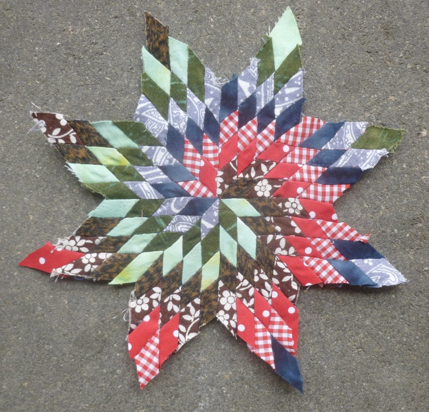 Spiral lone star quilt