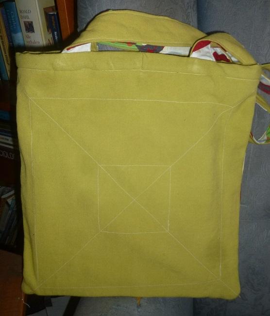 Patchwork spring bag back
