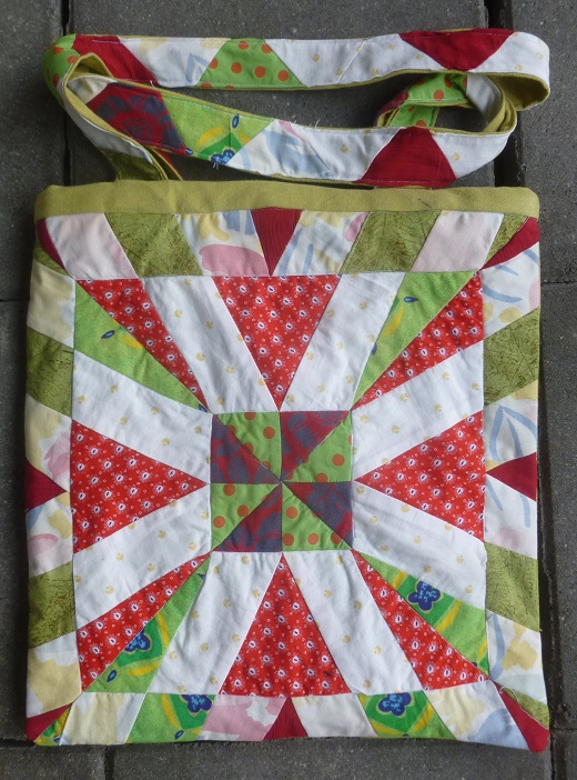 Patchwork spring bag front