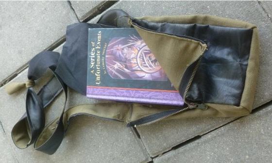 Peek-a-bookbag open