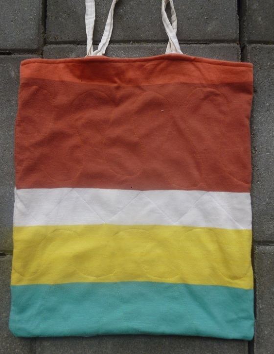 Beach upcycled tote bag