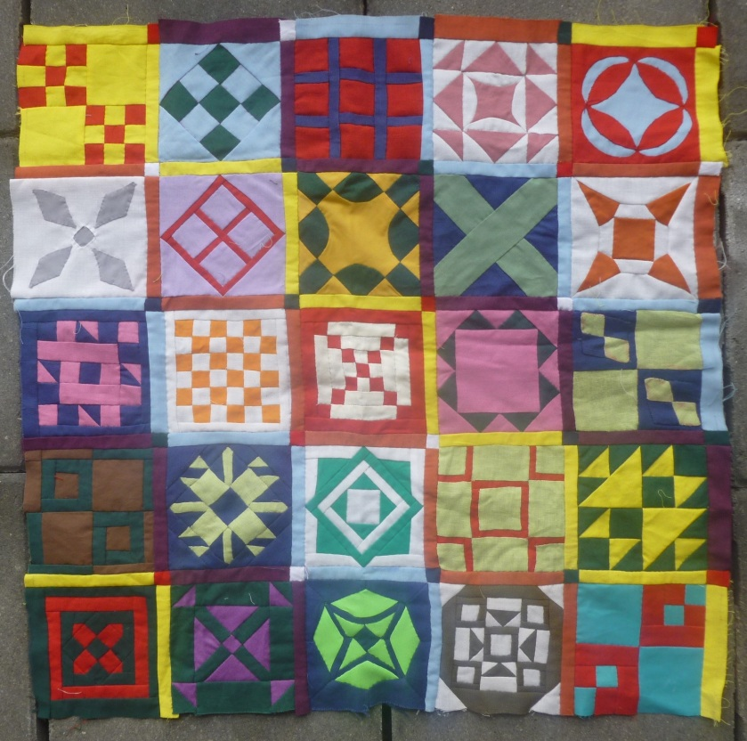 Dear Jane quilt bottom left
