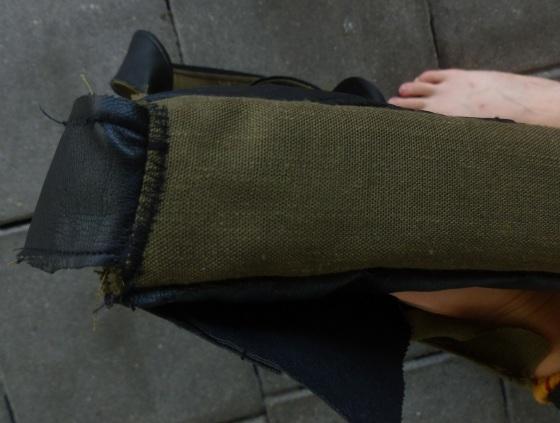 Inserting handles peek-a-bookbag