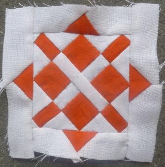 Dear Jane quilt block M-8: enchanted square