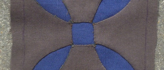 Dear Jane quilt block B-12 Starflower detail