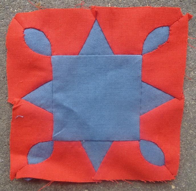 Dear Jane quilt block D-4: Crystal star