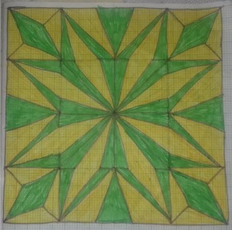 Pattern design for the Kenyan quilt