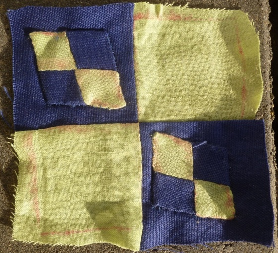 Dear Jane quilt block K-5: passing through