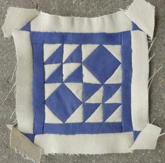 Dear Jane quilt block D-10: battlefield