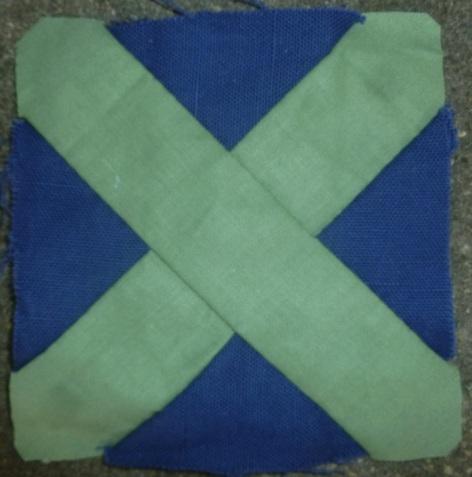 Dear Jane quilt block J-4: Adelaine's apron strings