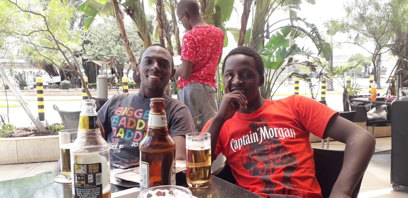 The last Kenyan men and beer I've seen