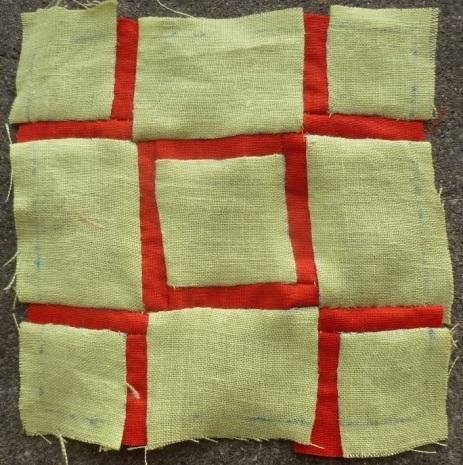 Dear Jane quilt block L-4: St. George's cross
