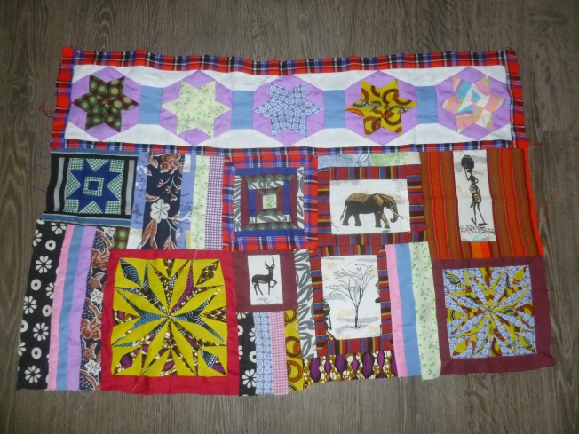 Kenyan quilt assembly of the blocks