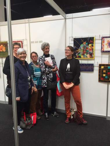 Me and my quilt friends at the exhibition
