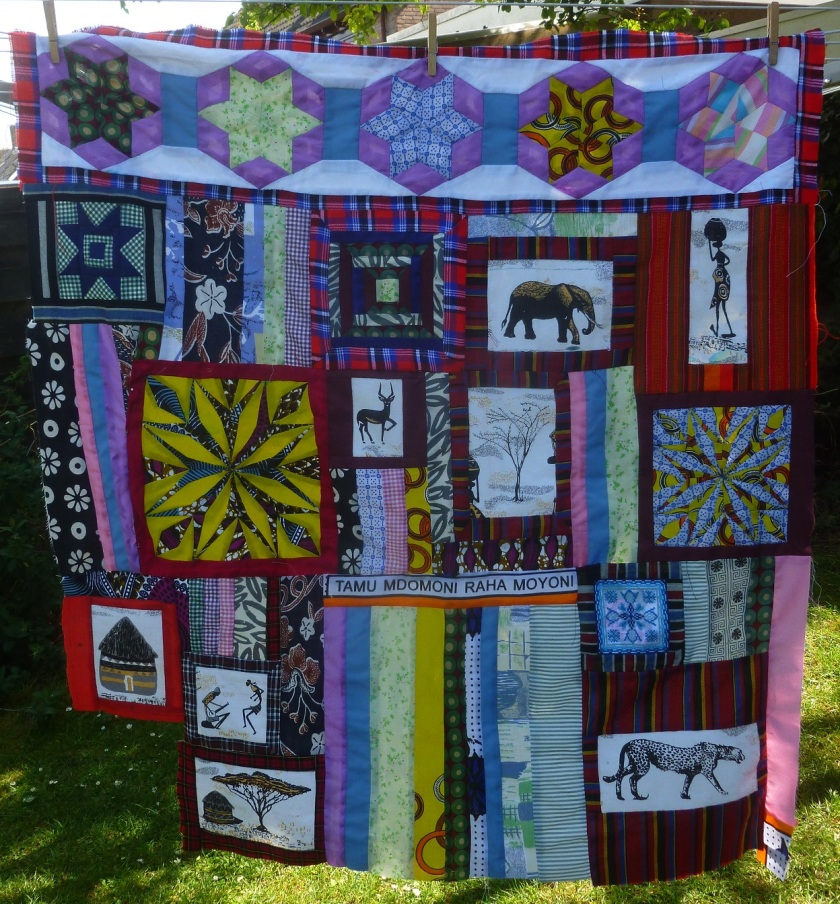 The Kenyan quilt WIP