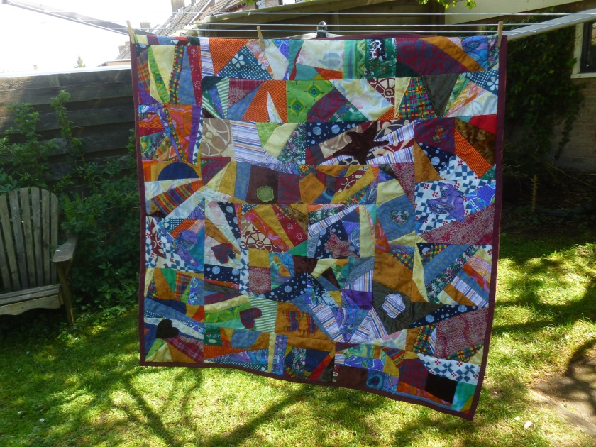 Scrap quilted picknick blanket