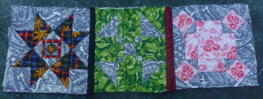 Nearly Insane sampler quilt QAYG WIP