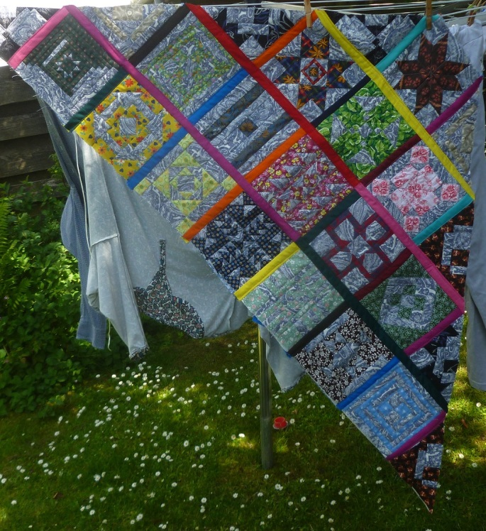Nearly insane quilt in the sun