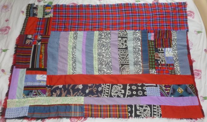 Crazy quilt blanket