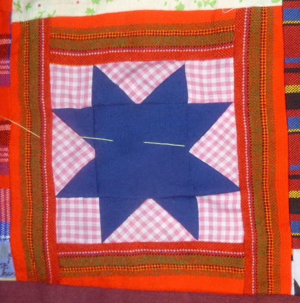 Sawtooth star basic quilt block
