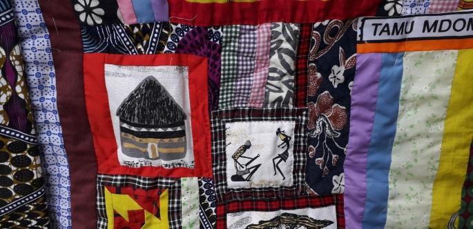 Kenyan quilt top hand quilting detail 1
