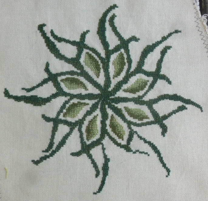 Any one colour cross stitch complete cross stitch