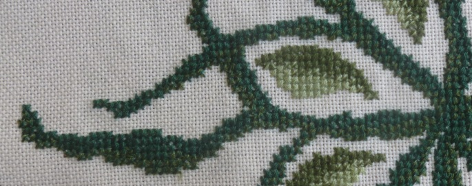 Bark detail any one colour cross stitch
