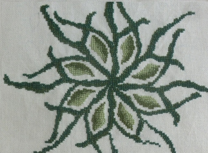 Any one colour cross stitch design finished