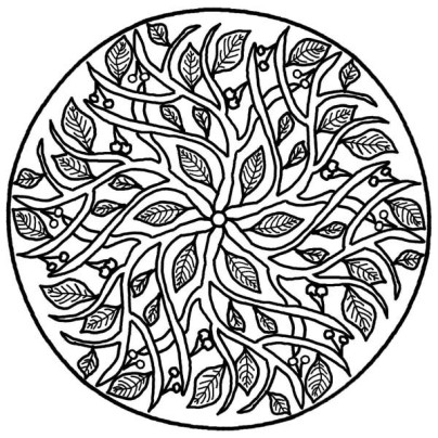 Leaves-Mandala-Coloring-Pages