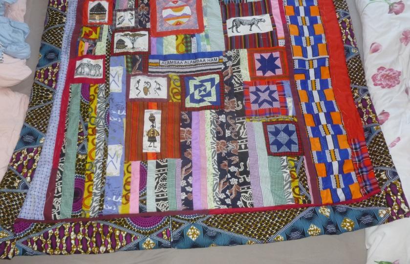 Kenyan Quilt top bottom part