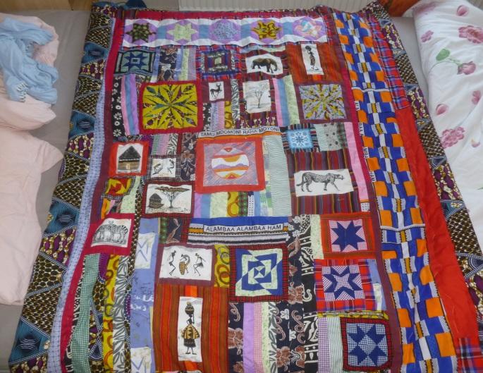 Kenyan quilt block finished