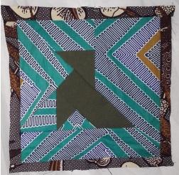 Foundation piecing origami bird quilt block