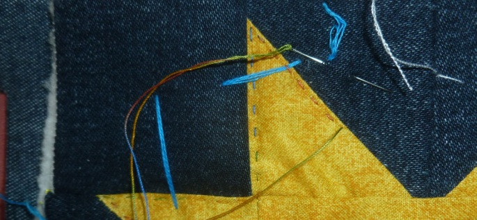 Quilting a patchwork star
